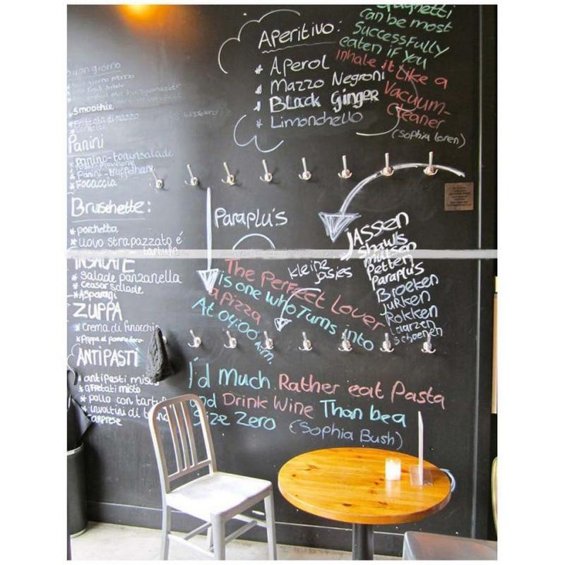 Chalk Board Blackboard Adesivos Desenhar Decor Mural Art Decalques Vinil Removível Quadro Adesivos de Parede Para Quartos Dos Miúdos Q1 - 2