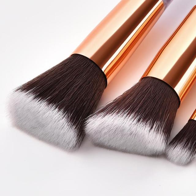10Pcs/Set Makeup Brushes With Bag Professional Marbling Handle Foundation Eyeshadow Powder Make Up Brushes Set Beauty Tool TSLM2 1