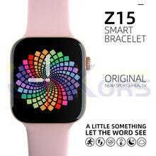 Smartwatch 2021 Z15 männer Uhren Fitness Armband Herz Rate Frauen Smart Uhren PK IWO 8 10 amazfit gtr Z20 x6 X7