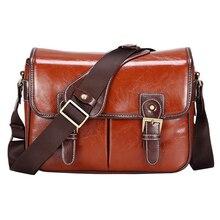 Luksusowa torba na aparat fotograficzny torebka wodoodporna torba na ramię moda Retro PU skóra DSLR Case gadżet torba dla Sony Canon Nikon