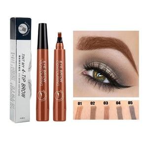 4 Tip Microblading Tattoo Eyebrow Pencil Brow Tattoo Pen Paint Makeup Eyebrows Waterproof Cosmetic Eye Brow Liner 5 Colors