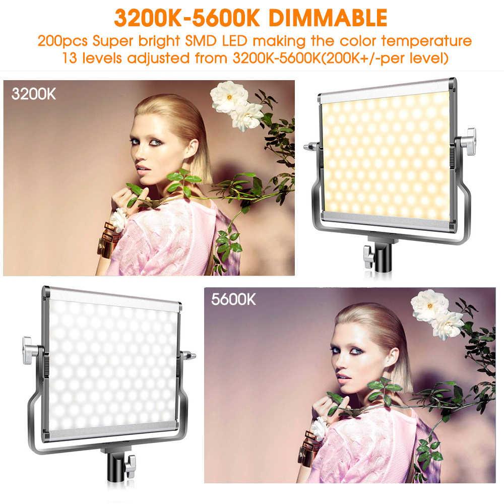 Capsaver L4500 ledビデオライト調光可能な 3200k-5600 18k 15 ワットcri 95 スタジオ写真ランプ金属パネル三脚youtubeの撮影