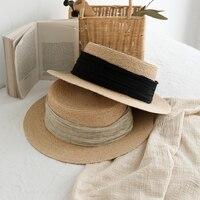 Female Summer Trend Hat Travel Sun Hat Female Sunscreen Lafite Straw Hat Women Beach Korean Style Holiday Leisure Sun Hat