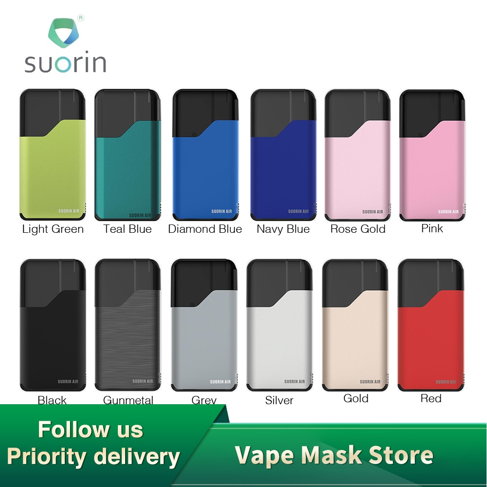 Original Suorin Air Starter Kit with Built-in 400mAh Battery & 2ml Capacity Cartridge Features Indicator Light & Refilling Vape