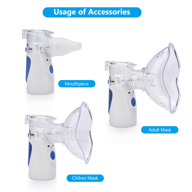 Health Care Mini Handheld portable Inhale Nebulizer USB silent Ultrasonic inalador nebulizador Children Adult Medical Automizer 3