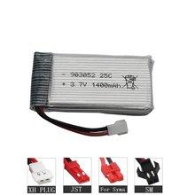 Alta Capacidade 1400mah 3.7V Lipo Bateria Para SYMA X5 X5S X5C X5SC X5HC X5SH X5SW M18 H5P H11D H11C T64 T04 T05 F28 F29 T56 T57