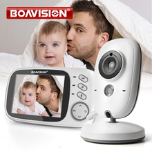 Monitor de vídeo de vigilância lcd 3.2 Polegada, babá, monitor com visão noturna, 5m, lâminas de ninar, câmera de vigilância vb603