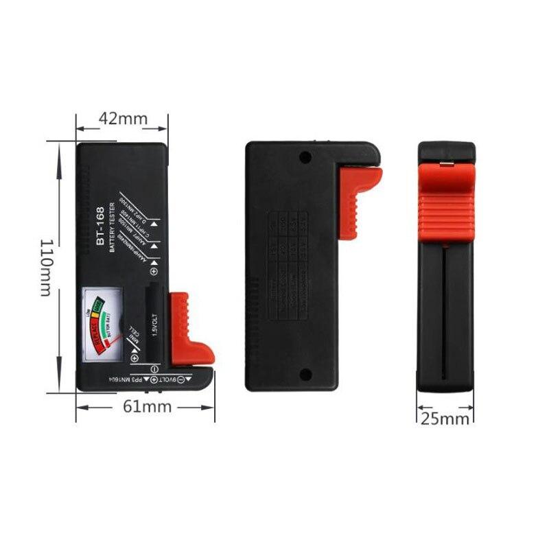 Realmote 168 портативный универсальный цифровой тестер электрической емкости батареи Вольт проверки для кнопки несколько размеров диагностиче...