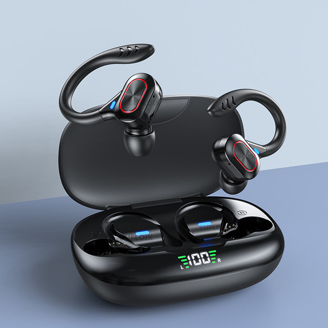 TWS Wireless Earphones Waterproof HiFi Stereo Sport Headsets LED Display Bluetooth-Compatible Headphones Earbuds With Microphone 1