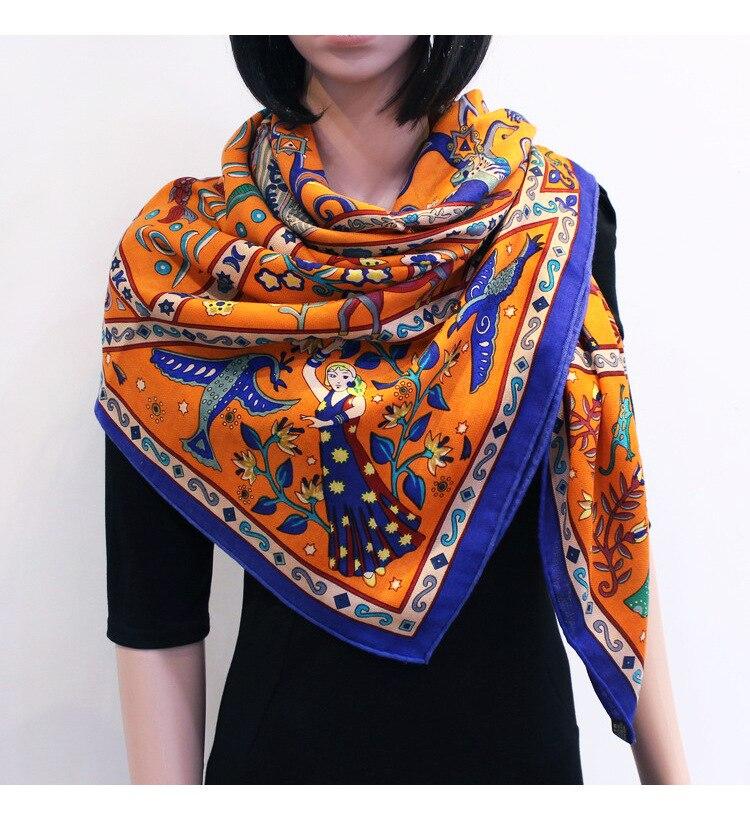 ¢PromoteWinter Scarf 30%Silk Luxury Brand Wraps Shawls Design 70%Cashmere Women Blended Female