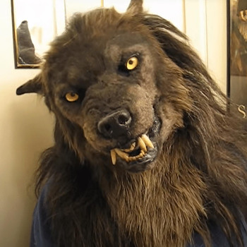 Werewolf Headwear Costume Mask Headwear Costume Mask Wolf Mask Carnival Masquerade Funny Mask Cosplay Scary Full Head Latex #LR2 halloween old man scary mask cosplay scary full head latex mask horror funny cosplay party mask old man head helmet masks