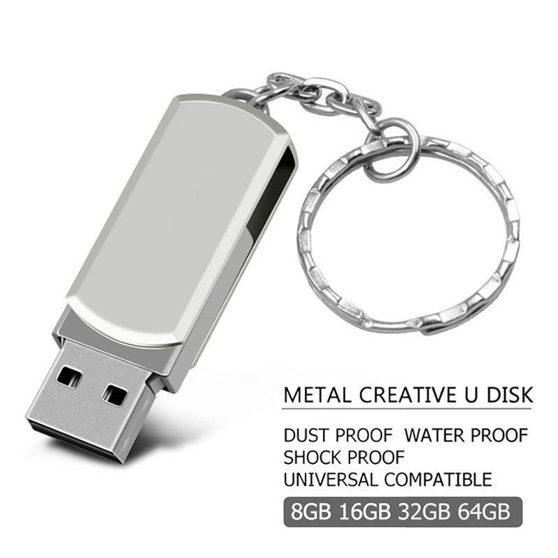 New Pen Drive Metal PenDrive 2.0 Usb Flash Drive 32GB 64GB 128GB High Speed Cle Usb Stick 4GB 8GB 16gb Usb Flash Memory Stick