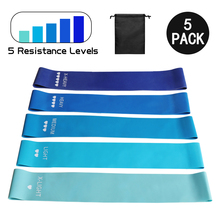 Yoga Resistance Exercise Bands Strength Training Fitness Gum Body Workout Pilates Rubber Pull Expander Loop Fitness Equipment