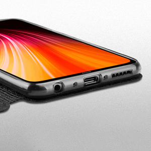 Image 3 - を Xiaomi Redmi 注 8 8T ケースシリコンカバーフリップ革 Mofi Xiaomi Redmi 注 8 8T プログローバルバージョン 360 耐衝撃