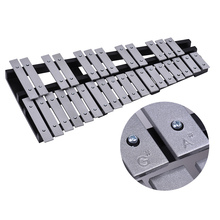 Musical-Instrument Xylophone Glockenspiel Wooden-Frame Aluminum-Bars Ammoon with Carrying-Bag