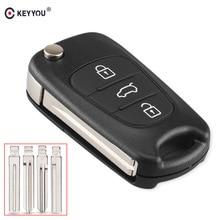 KEYYOU Замена дистанционного Ключа автомобиля Shell 3 кнопки флип складной удаленный ключевой чехол для Kia K2 K5 киа рио 3