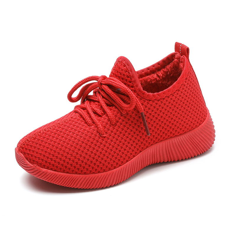 Boys Sneakers Brown Red Lace Shoes For Big Children's Shoes Primary School Kid's Sports Shoes Sneakers Suitable Boys  Girls