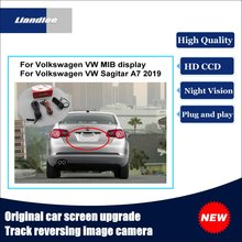 Liandlee For Volkswagen VW Sagitar A7 2019 Original Car Screen Upgrade Reversing Image Camera Track Handle Rear View