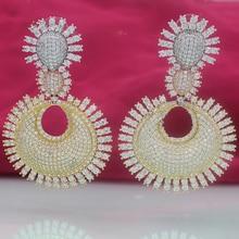 Wick dolia earrings female party swingable zircon beautiful wedding jewelry ladies tassel rose gold b