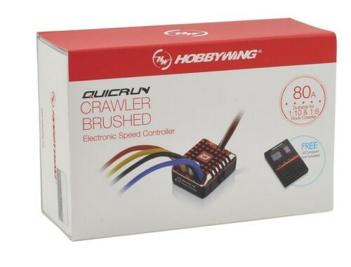 Hobbywing QuicRun 1080 Waterproof Brushed 80A ESC + Program Card For Crawler image