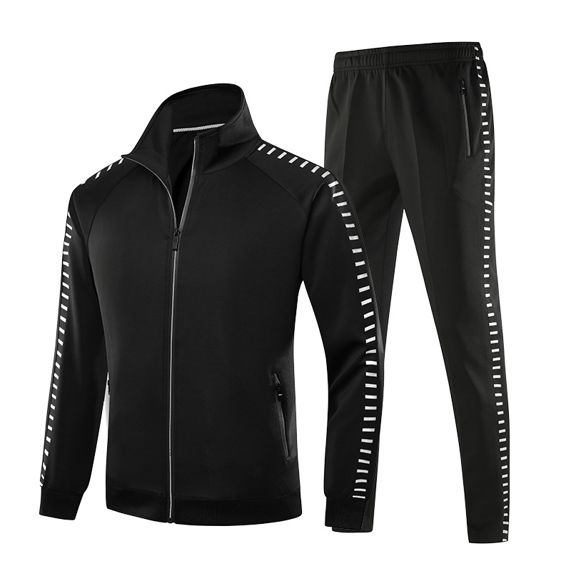 Étudiant sport costume hommes nouvelle marque printemps automne 2 pièce ensemble décontracté veste et pantalon Jogging Sportswear à manches longues survêtement