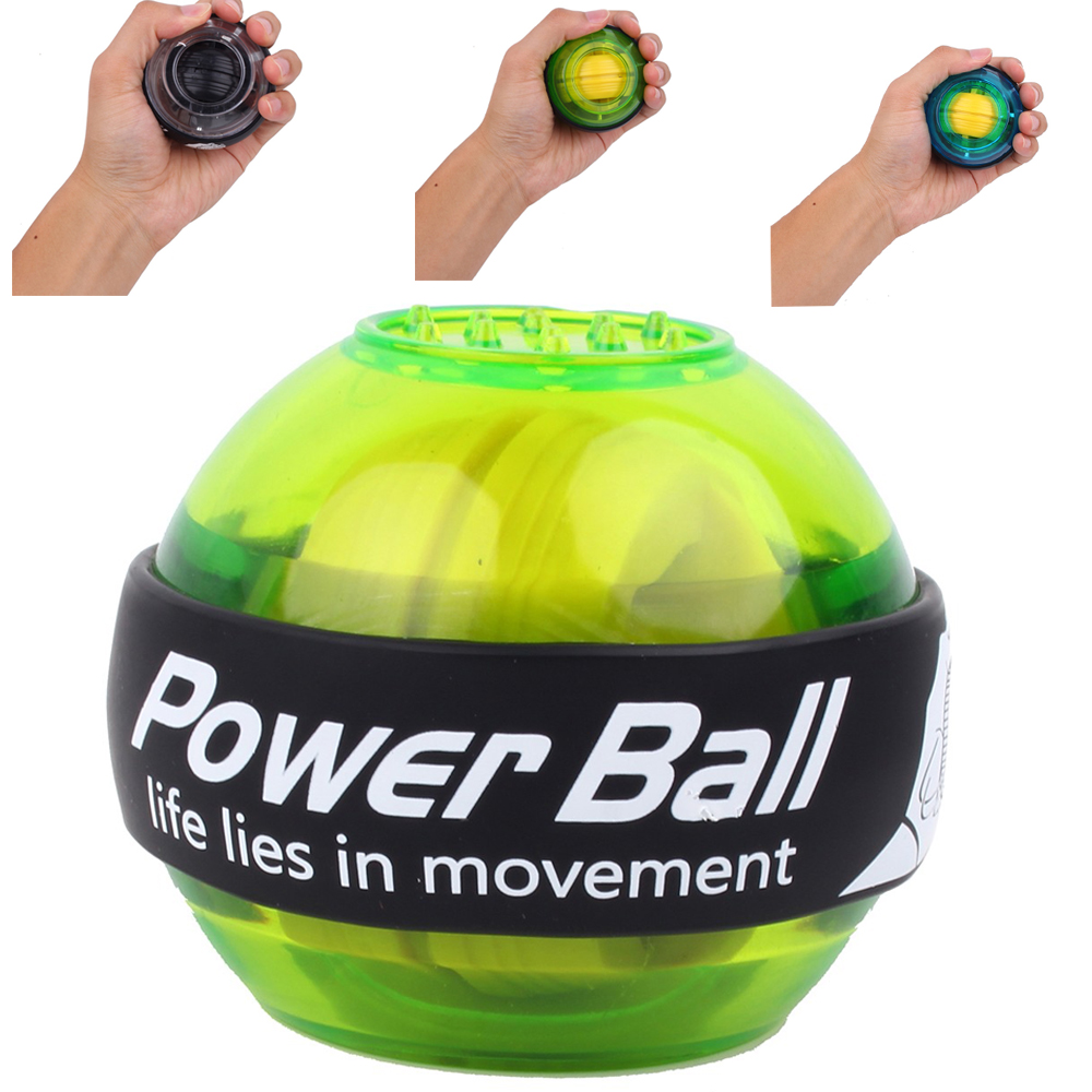 Power Wrist Ball Massage Ball Hand Gyroscope LED Gyro Ball Exercise Machine Arm Trainer
