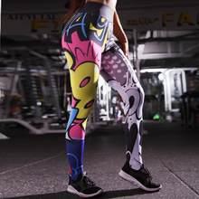 ATHVOTAR femmes Leggings mode bande dessinée impression numérique Push Up Leggings femmes décontracté taille haute Fitness Leggins Mujer