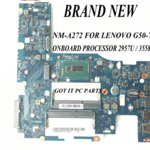 LAPTOP G50-70 NM-A272 Aclu1/aclu2 NEW FOR PROCESSOR 3558u/2957u UMA