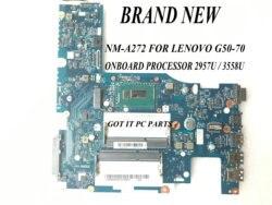 Szybka wysyłka. BRAND NEW  ACLU1/ ACLU2 UMA NM-A272 G50-70 płyta główna laptopa dla LENOVO G50-70/Z50-70  procesor 3558U / 2957u