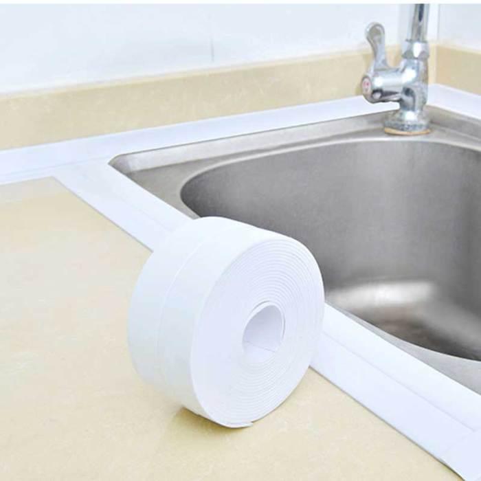 3,2 метров Ванная комната душ для раковины ванны уплотнительная лента Белая ПВХ самоклеющаяся Водонепроницаемая Наклейка на стену для ванной кухни