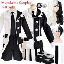 Danganronpa-Disfraz de Anime de Harmony, Cosplay de alta calidad, Monokuma, capa de disfraz, camisa, corbata, falda (o camisas) y calcetines, V3: Killing