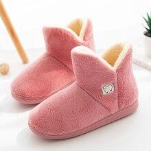 Invierno cálido Faux Botas de piel para mujeres Botas de media pantorrilla zapatos de interior mujeres hombres parejas amantes suave Puppy Plush Home Botas Mujer