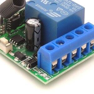 Image 5 - DieSe RF 433 МГц универсальный беспроводной пульт дистанционного управления DC12V 1CH релейный модуль приемника 3 кнопки для лампы 1 передатчик 3 функции