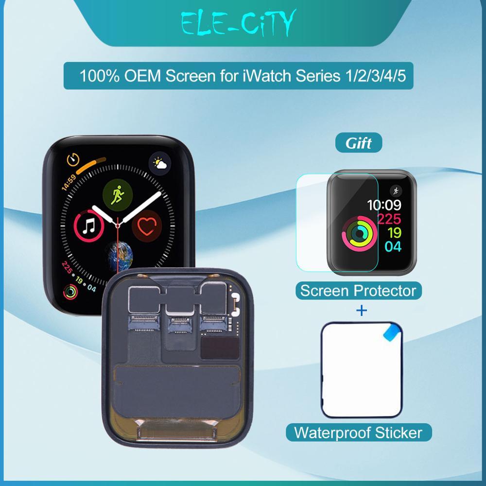 100% OEM Bildschirm Für Apple Uhr Serie 5 4 3 2 1 LCD Touchscreen OLED Display Digitizer Vollversammlung für iWatch 38mm 42mm 44mm-in Handy-LCDs aus Handys & Telekommunikation bei title=