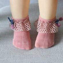 Baby Infant Bowknot Socks Spring Lace Princess Socks Cotton Baby Girl Ankle Socks Baby