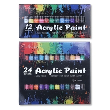 12/24 Colors Watercolor Acrylic Oil Painting Pigment for Artists Drawing Ceramic Stone Wall Paints Tubes Craft
