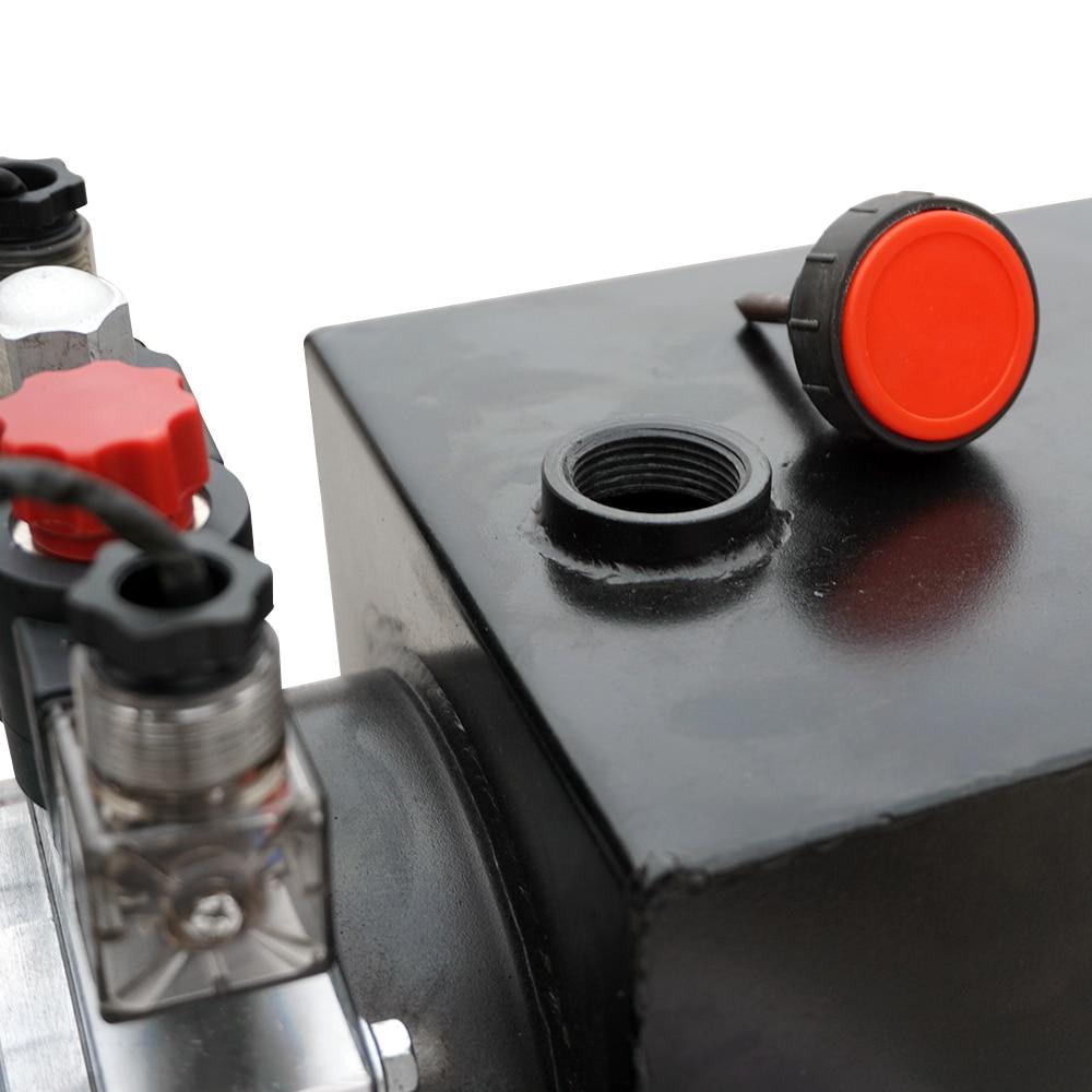 Centralina idraulica 8L Pompa a doppio effetto Potenza idraulica 12V - Utensili elettrici - Fotografia 6