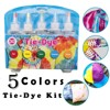 Fabric Textile One-Step Tie-Dye Kit 5 Colors DIY Design Safe Dyes Liquid Colorant Dye Ink Diffusion Resin