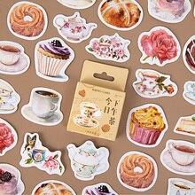 Afternoon Tea Dessert Series Creative Simple Scrapbooking Stationery Decoration DIY Adhesive Stickers Cake Cute Sweet 46 Sheet