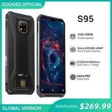 DOOGEE S95 IP68 Rugged Mobile Phone 6.3 polegada Display Modular Helio P90 Octa Núcleo 6GB 128GB 48MP Triplo câmera Android 9.0 5150mAh