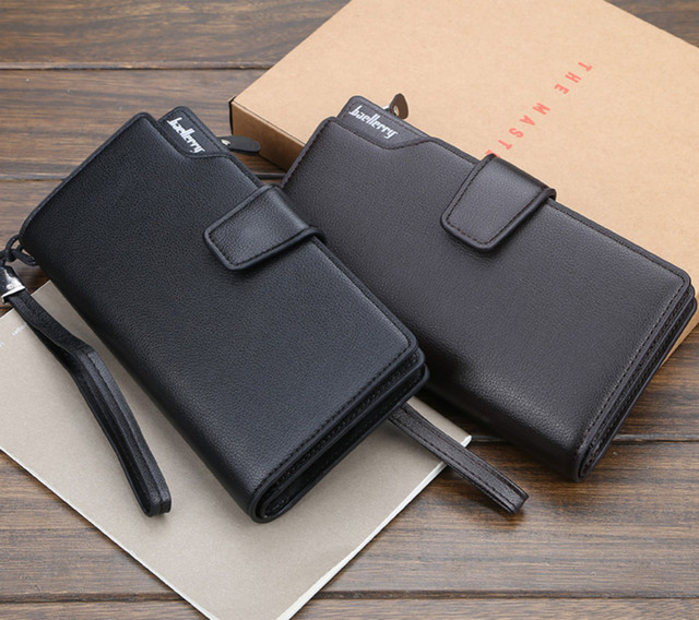 Men Long Wallet Clutch Bag Credit Card Holder Purses Carteira Masculina Carteras Billetera Hombre Leather Money Portfe Carte 5
