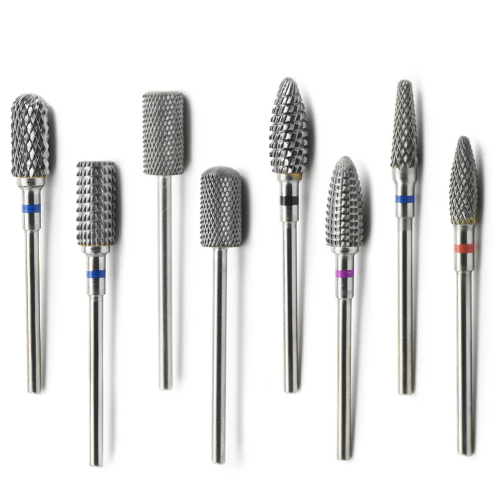 9 Type Nail Drill Bits Tungsten Carbide Electric Milling Cutter For Nail Drill Manicure Machine Accessory Nail Files Tool