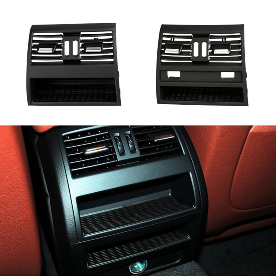Задняя центральная консоль для выхода свежего воздуха, вентиляционная решетка, крышка для BMW 5 F10 F18, задняя центральная консоль AC, выход свеж...