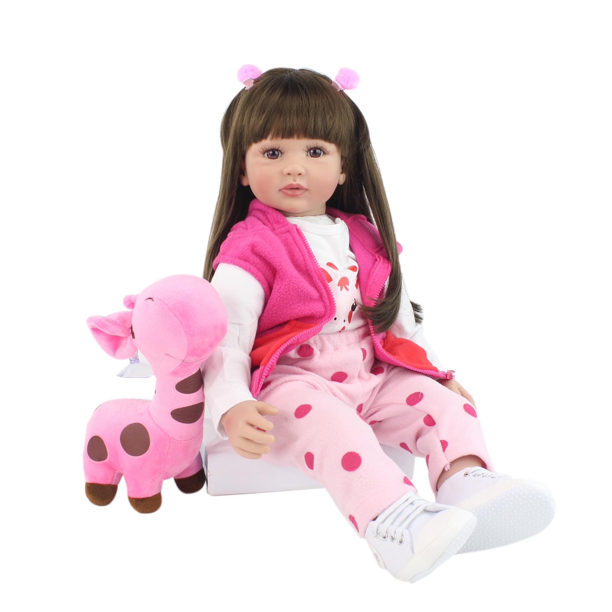60cm Silicone Reborn Toddler Princess Toy Doll 24