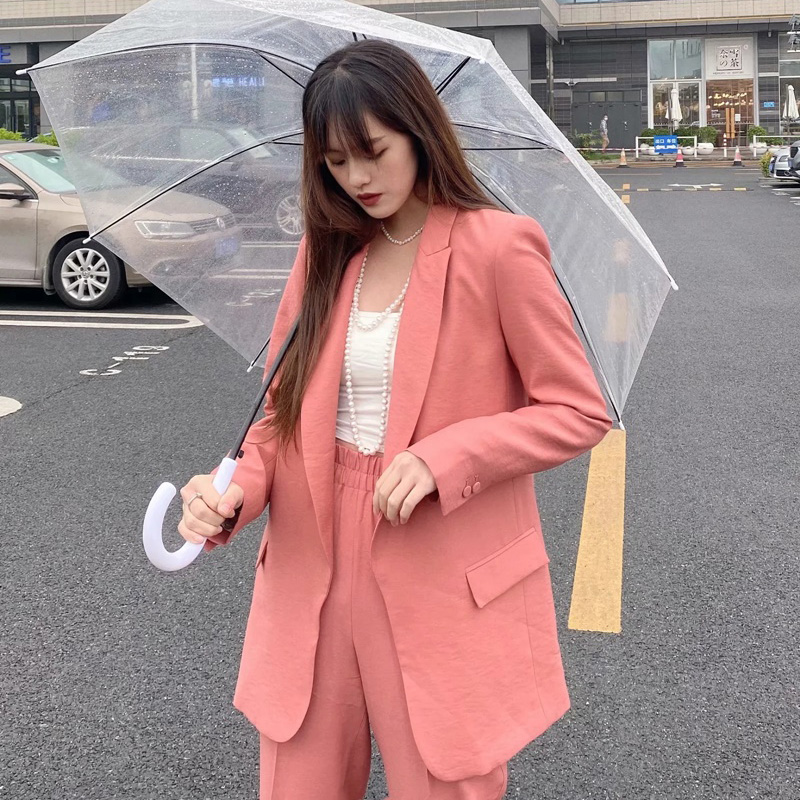 Blazer Set Women Suit  Pant Suits Jacket Trouser 2 Piece Set for Women Blazer Jacket & Trouser Office Chaquetas Americanas Mujer