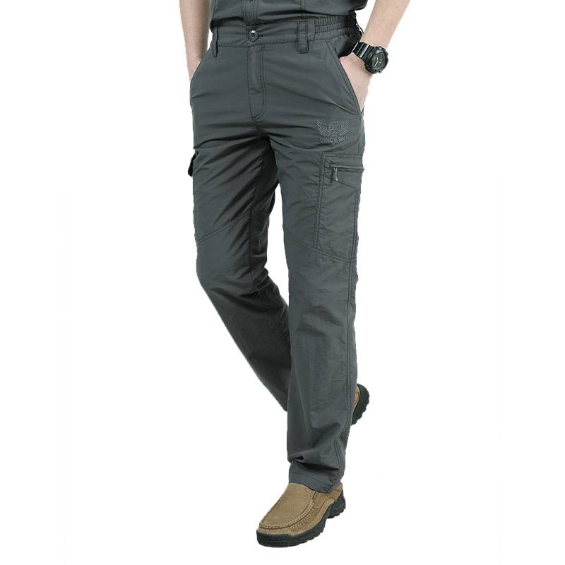 Men Military Style Lightweight Cargo Pants Men Summer Breathable Male Trousers Joggers Army Pockets Casual Quick Dry Pants 5XL