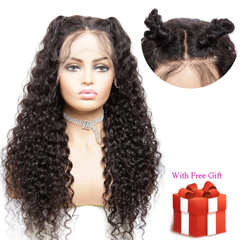 13*4 Brazilian Water Wave Lace Front Human Hair Wigs With Baby Hair Pre Plucked Natural Hairline Remy Hair Wigs