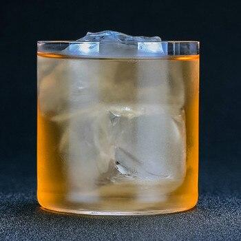 300-400ml de fondo plano Whisky copa de vino cristal claro Vodka taza de Hockey sobre hielo antiguo beber Stemless copas de taza