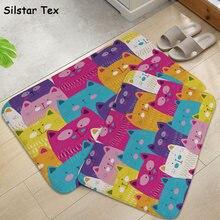 Silstar tex мультяшный Кот коврик для ванной милые животные