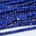 Natürliche Lapis Lazuli Facettierte Unregelmäßige Cube Bead 4mm